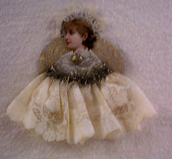 Antique Die-Cut Scrap Angel Ornament