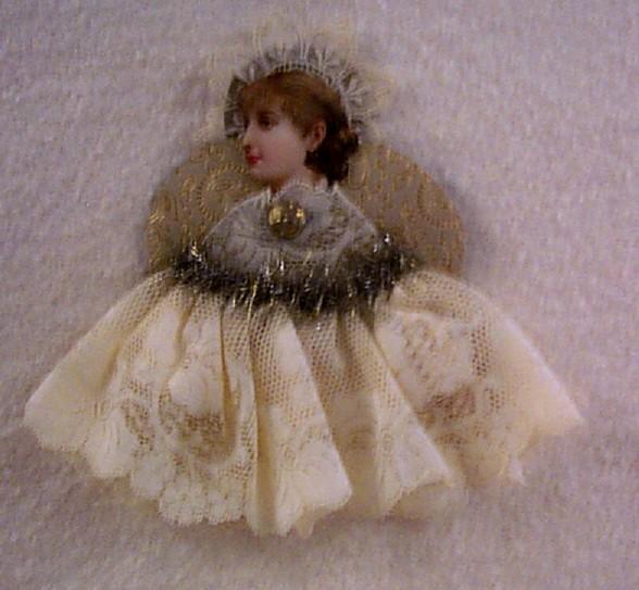 Antique Die-Cut Scrap Angel Ornament