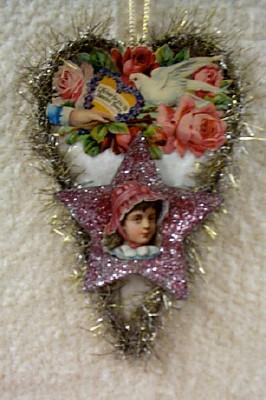 Cotton Batting Heart Ornament #2