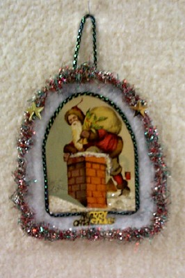 Santa Postcard Cut-Out Ornament