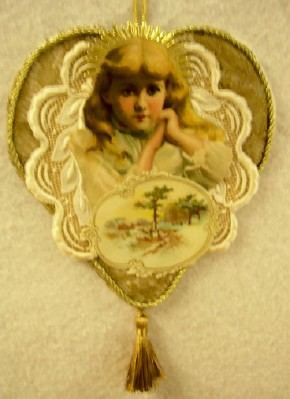 Angel with Lace Wings Ornament