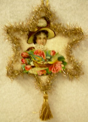 Edwardian Lady Cut-Out Ornament