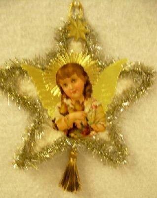 Angel with Dresden Wings Ornament