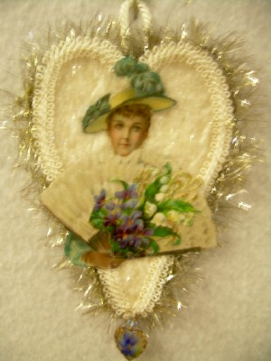 Lady with Floral Scrap Ornament