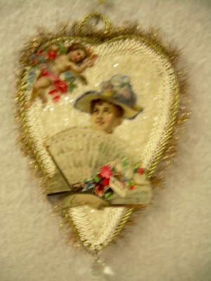 Cotton Batting Heart Ornament