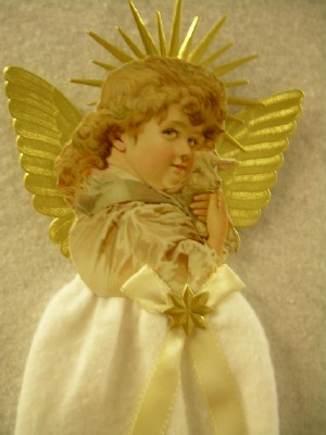 Cotton Batting Angel Ornament