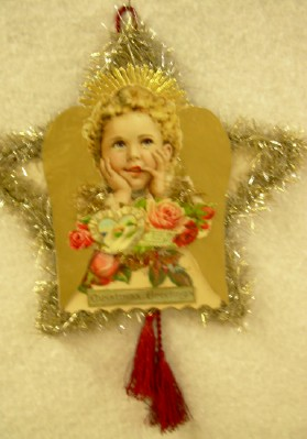 Angel with Card Scrap Ornament