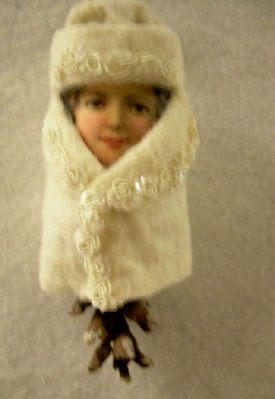 Pine Cone Ornament with Child's Face