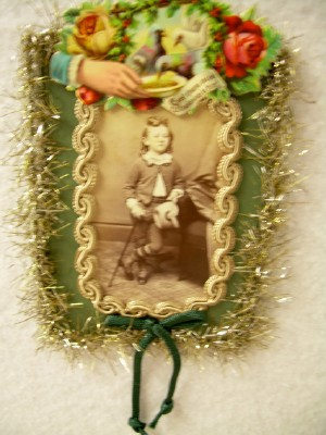 Antique Photo of Victorian Boy Ornament