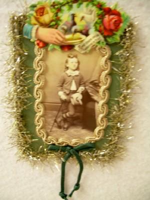 Antique Photo of Victorian Boy Ornament
