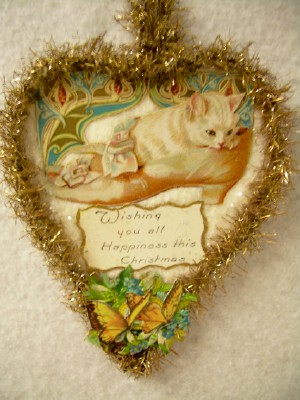 Kitten in a Shoe Cut-Out Ornament