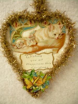 Kitten in a Shoe Cut-Out Ornament