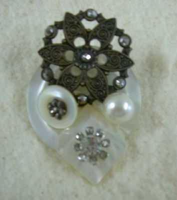 Beautiful Button Brooch