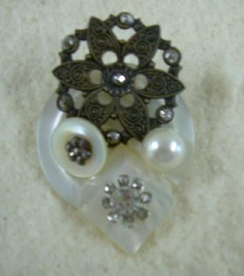 Beautiful Button Brooch
