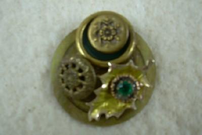 Pretty Button Brooch